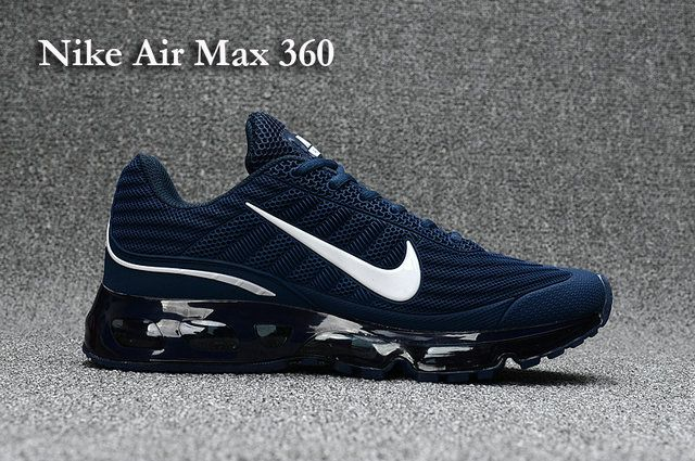 3eed9b3604f7 Nike Air Max 360 Men s shoes Blue White