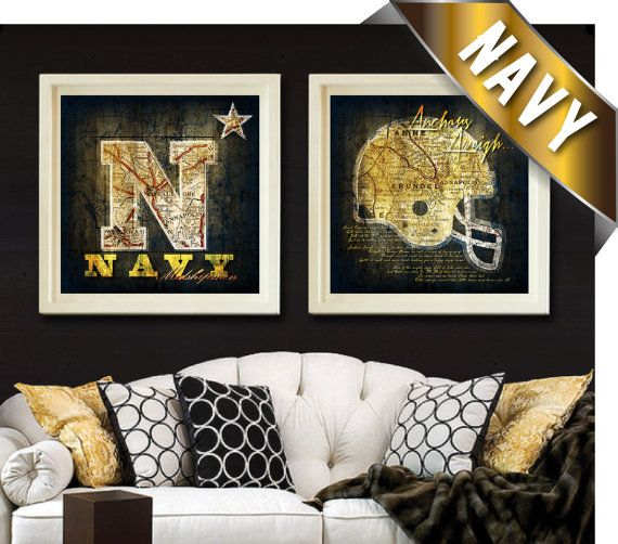 Navy Midshipmen Map Set  Featuring Navy Fight Song by RetroLeague