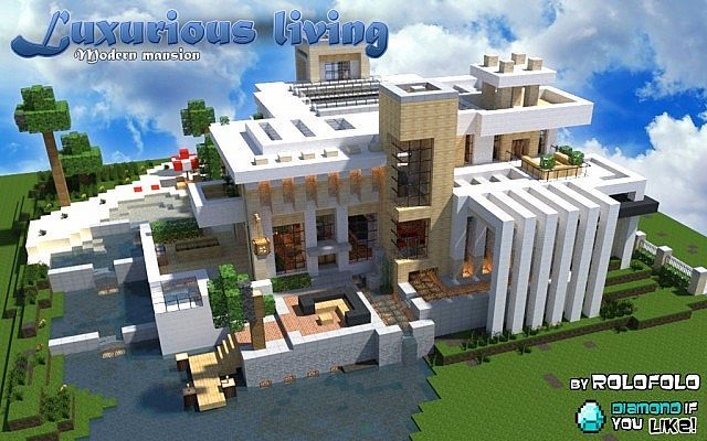 Modern Luxurious Living Mansion At Wok And Minecraft Monday Youtube Vid Minecraft Project Minecraft Projects Minecraft Mansion Minecraft Modern