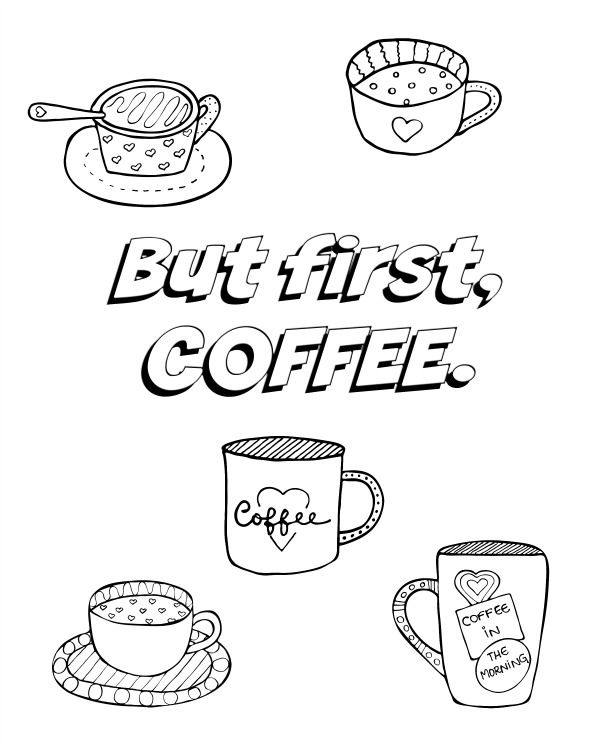 All About Coffee Adult Coloring Pages | Coloring pages ...
