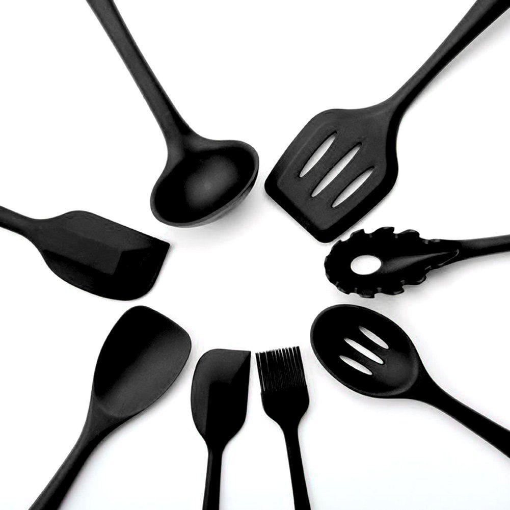 Kitchen Utensil Set Silicone Heatresistant Nonstick Kitchen Utensils Cooking Tools 10 1 Silicone Cooking Utensils Kitchen Utensil Set Kitchen Cooking Utensils