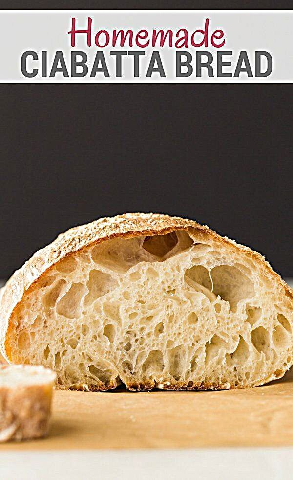 Homemade Ciabatta Bread | Recipe in 2020 (With images ...
