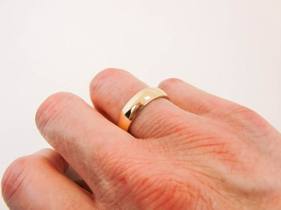 14 Karat Gold Ring 6mm X 1.5mm 14K Gold Band by Lovethebugs ... c71dca43f700