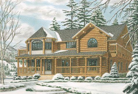 The Stillwater Log Home Plan | In my dreams . . . | Pinterest ...