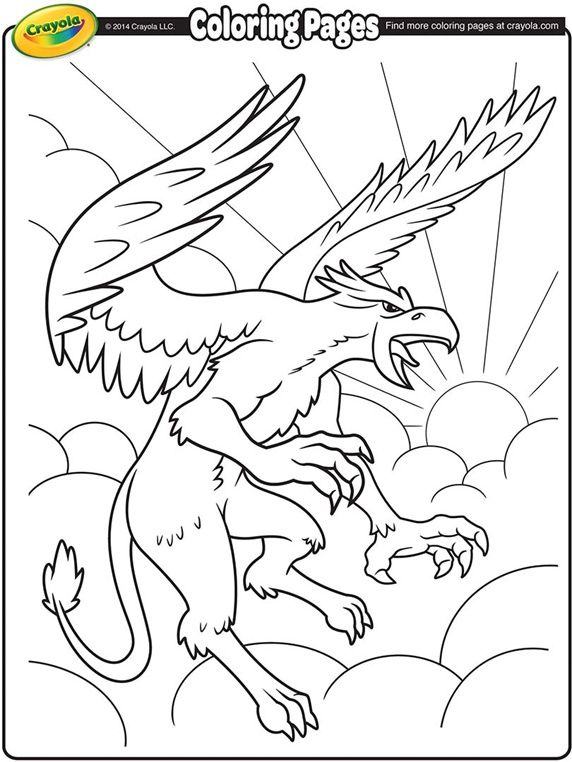 Griffon on crayola.com | Coloring Pages (Crayola) | Pinterest