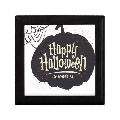 #Happy Halloween Pumpkin Gift Box - #Halloween #happyhalloween #festival #party #holiday