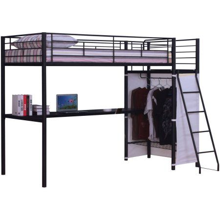Hazra Loft Bed, Brown