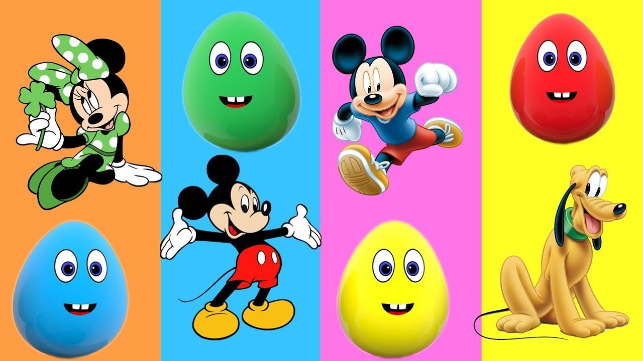 Learn Colors For Kids Children Toddlers Surprise Egg And Mickey
