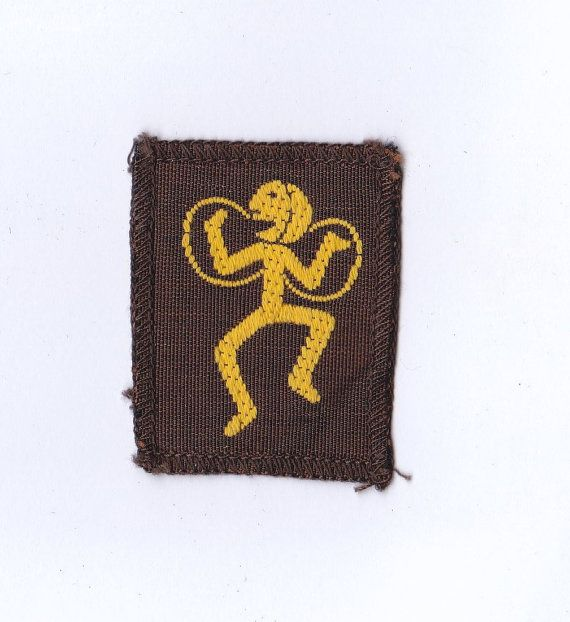 Vintage Rare Brownies / Girl Guides Sixes FAIRY Badge  | Embroidered Sew on Patch |  1960's Girl Scouts
