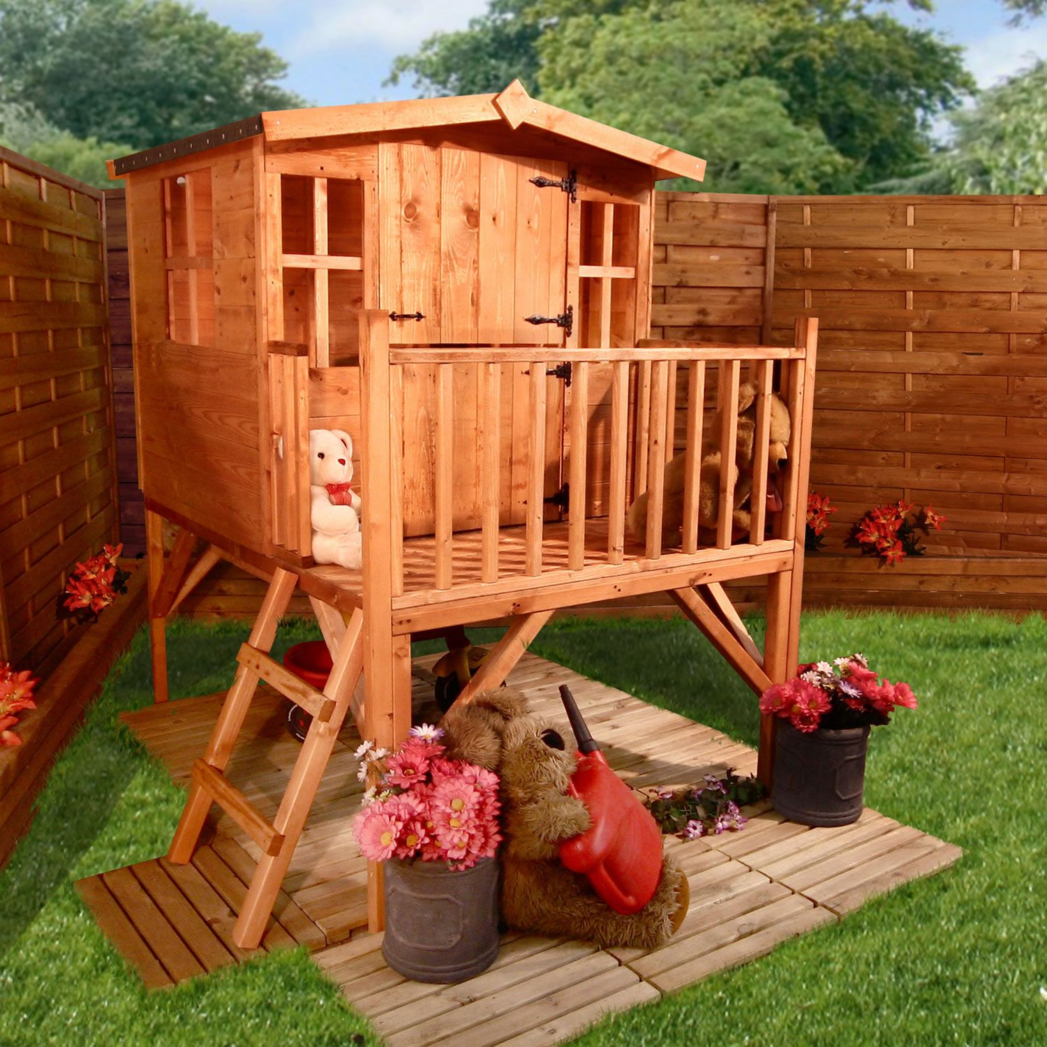 Picturesque Wooden Outdoor Playhouse Ideas Introducing Ravishing .