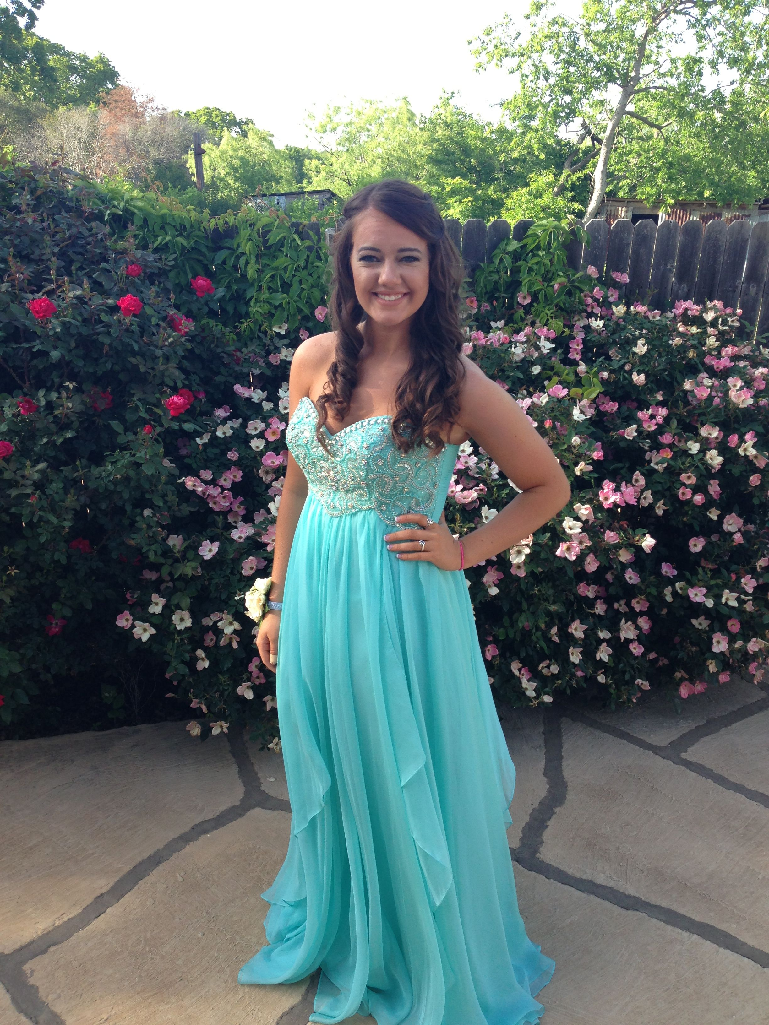 Turquoise prom dress. From GROUP USA in the grapevine mills ...