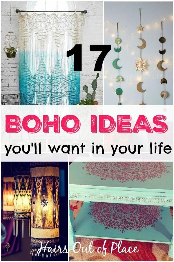 17 create boho decor ideas whether you're decorating your small bedroom, creating a boho living room, or just want hippie decor ideas. #hippie #boho #bohemian #gypsie #boho bedroom diy Boho Decorating Ideas For Your First Cozy Home ~17 Decor Tips
