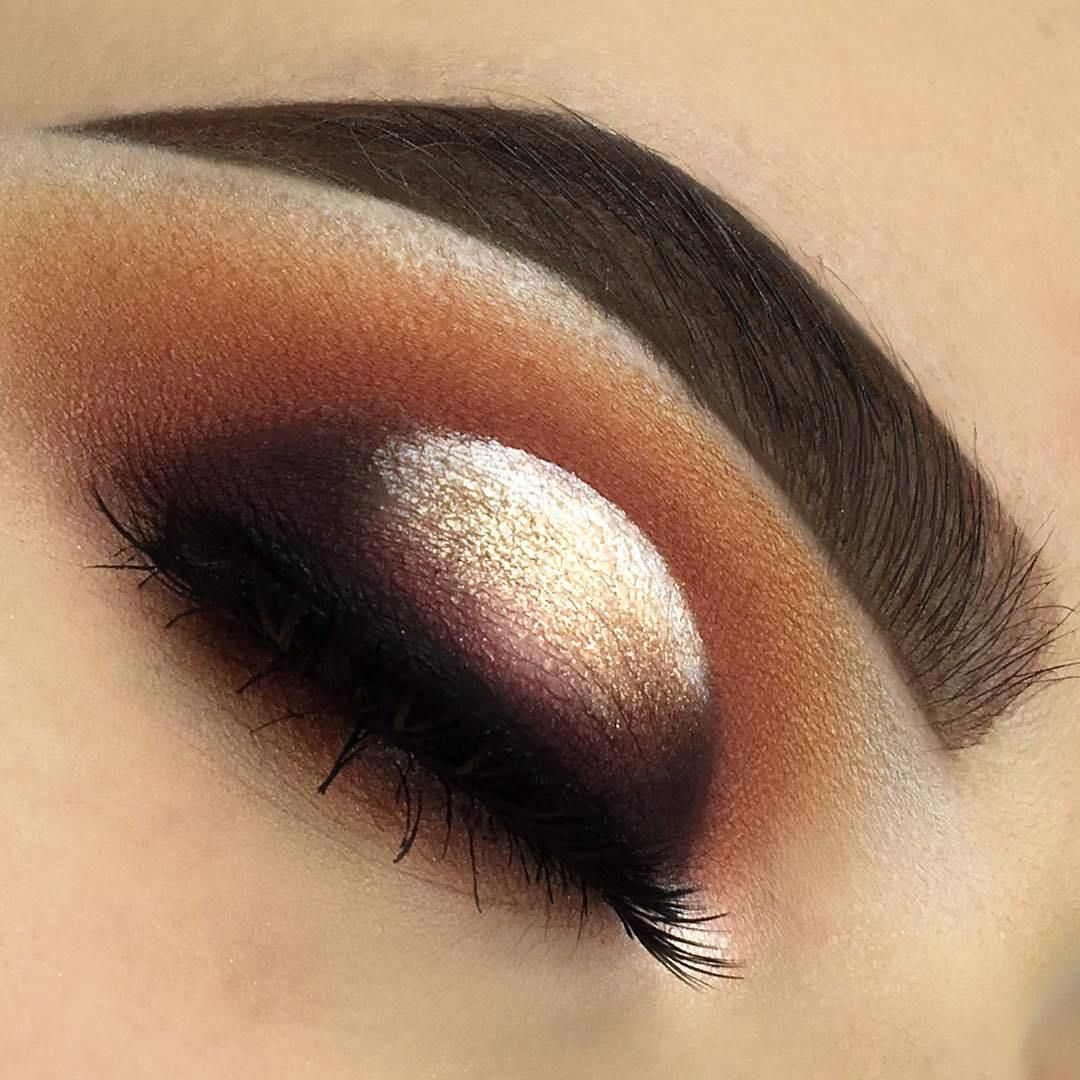 Sunset halo eye makeup Toasted and Tarteist palettes