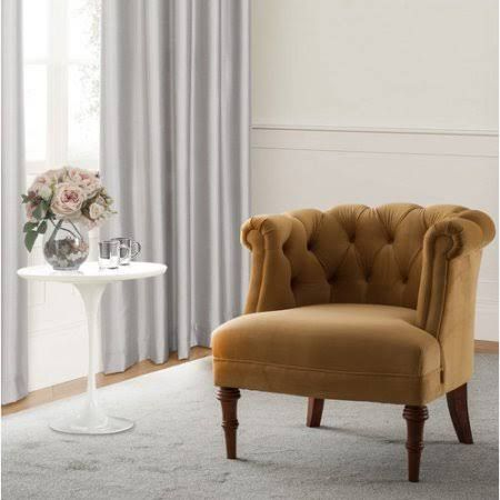 Astoria Grand Morphew Barrel Chair Upholstery Color: Gold