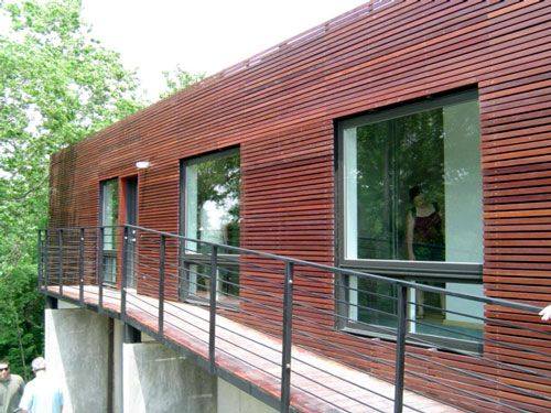 Modern wood siding weather ice sheild applied to the for Modern exterior wood siding