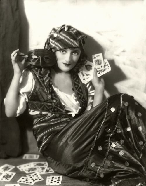 """""""Men are like a deck of cards. You'll find the occasional king, but most are jacks.""""  ~ Laura Swenson Photo of actress Carmel Myers  Gypsy Roma"""