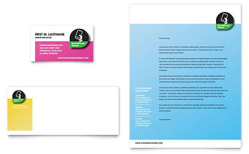Smartphone Repair Letterhead Template  Download