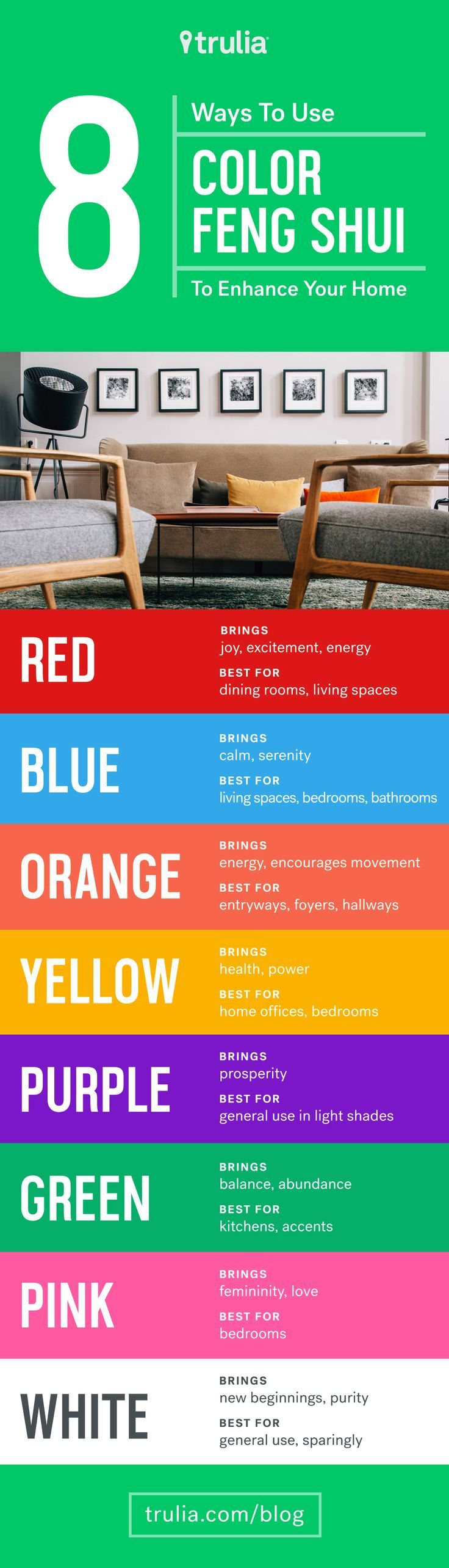 Best Feng Shui Colors For Kitchen Part - 16: 8 Reasons To Use Color Feng Shui To Enhance Your Home U2013 Life At Home U2013  Trulia Blog