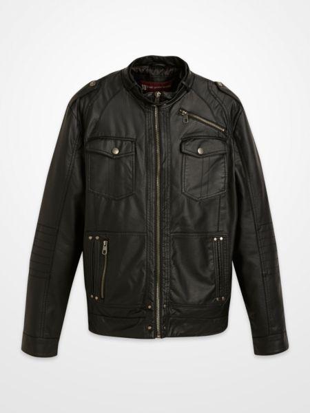 Blair Underwood Black Faux Leather Moto Jacket Zipper Bomber Fall Menswear Fashion Tren Mens Leather Jacket Casual Jackets Black Faux Leather Moto Jacket