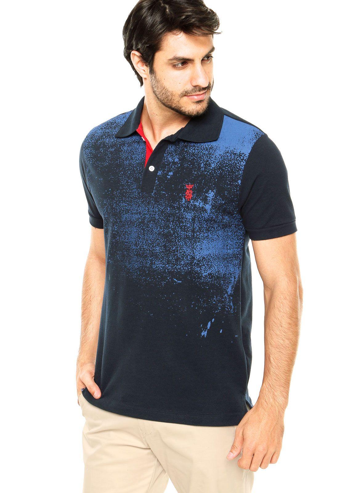 Camisa Polo SNK Estampada Azul - Marca STN e3f483d64c2