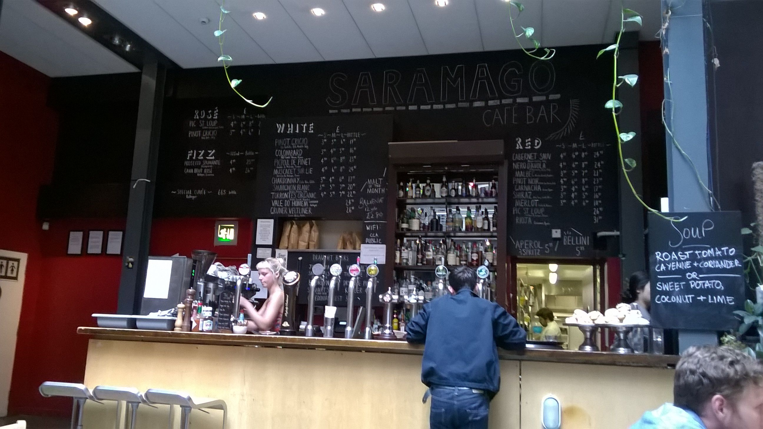 Saramago, vegan cafe bar. CCA (Centre for Contemporary Arts) Glasgow.