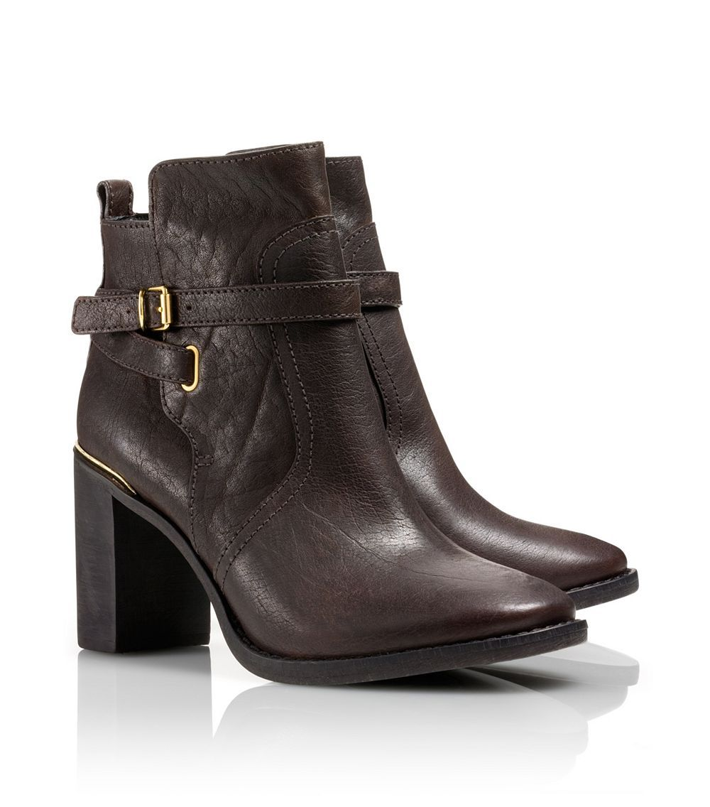 f87c58caafeb75 ... spain tory burch kayden bootie in brown coconut lyst 63a0f e054f