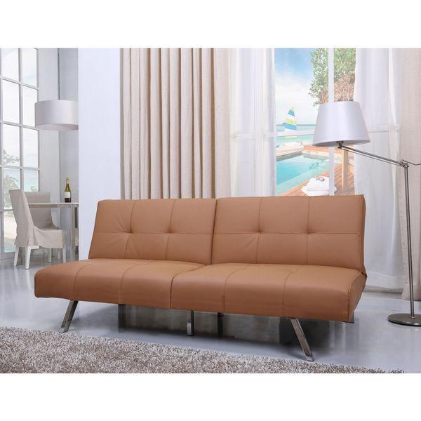 Victorville Camel Foldable Futon Sofa Bed