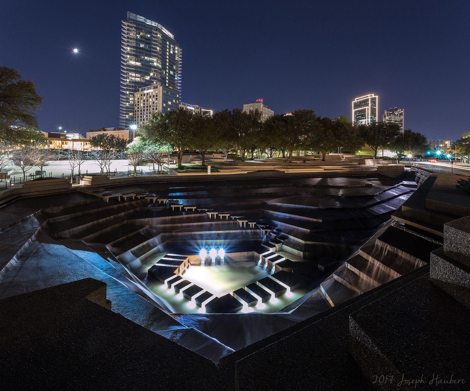 Water Gardens in Fort Worth at Night Water garden