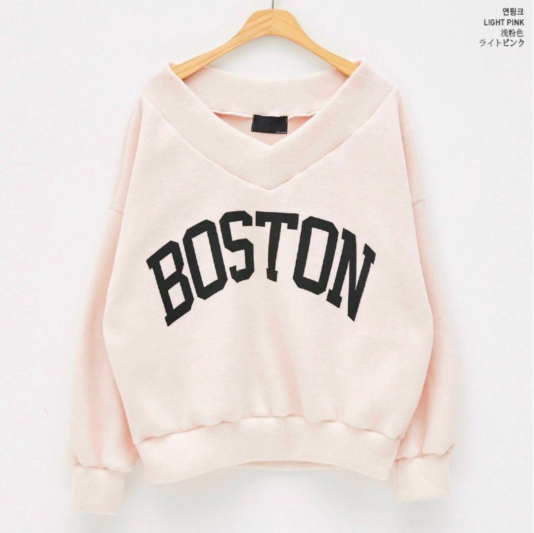 Pink Boston Sweater