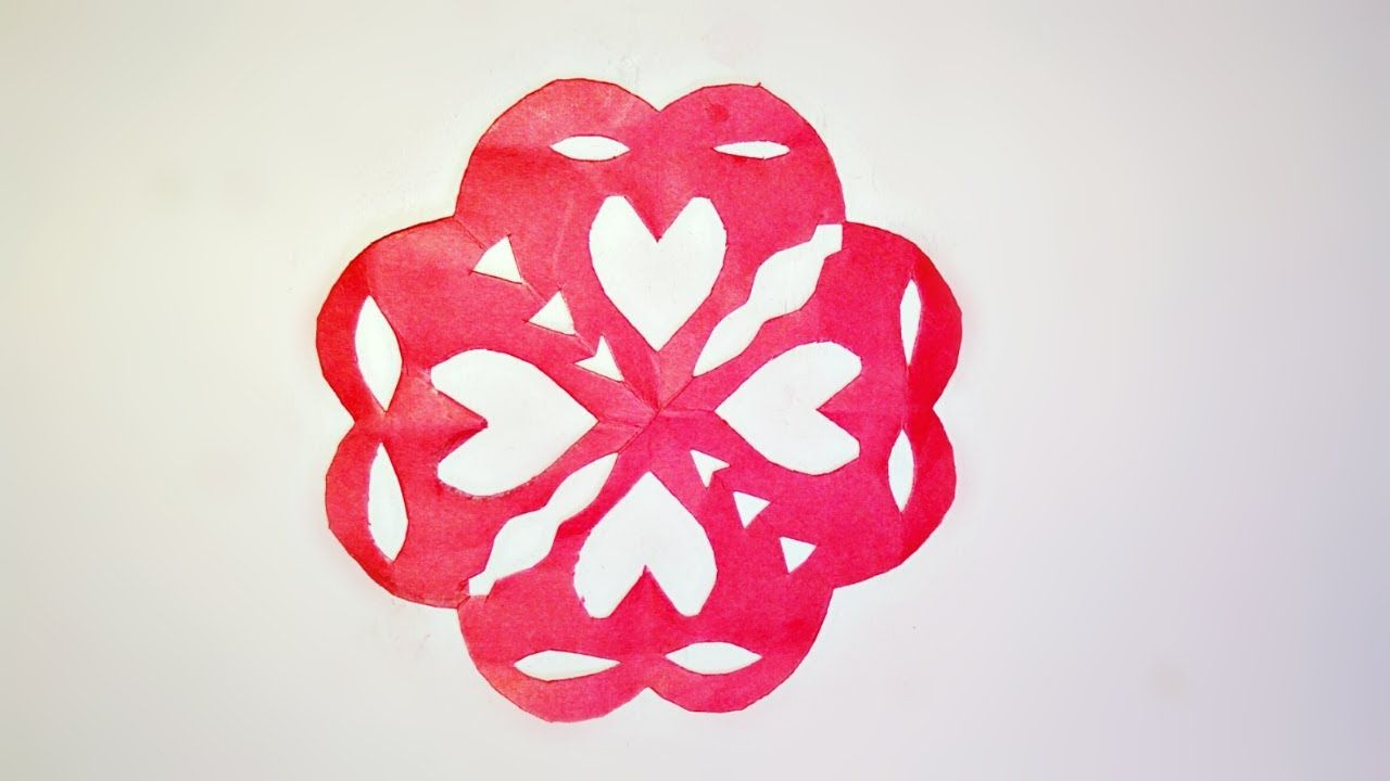 How To Make A 4 Metal Cut Paper With Love Styleflower Kirigami