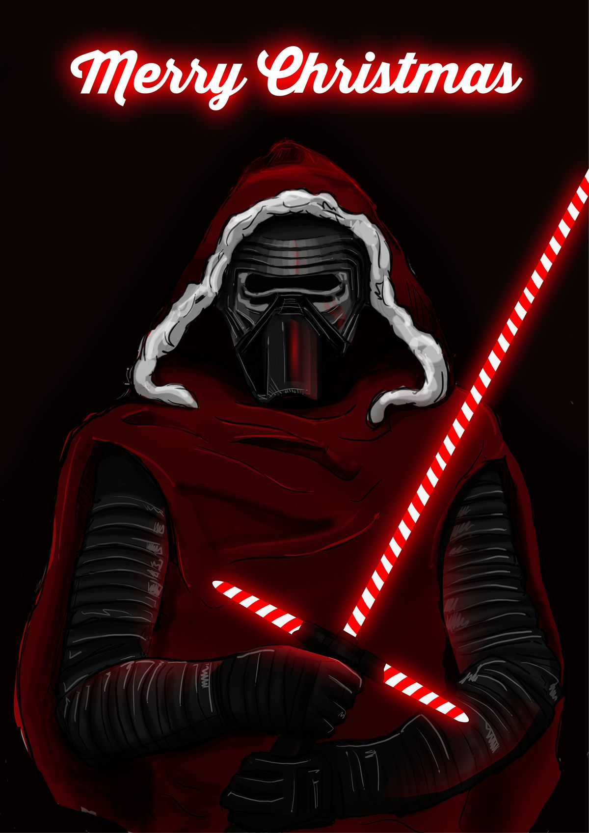 Kylo Ren Merry Christmas Star Wars Pictures Star Wars Poster