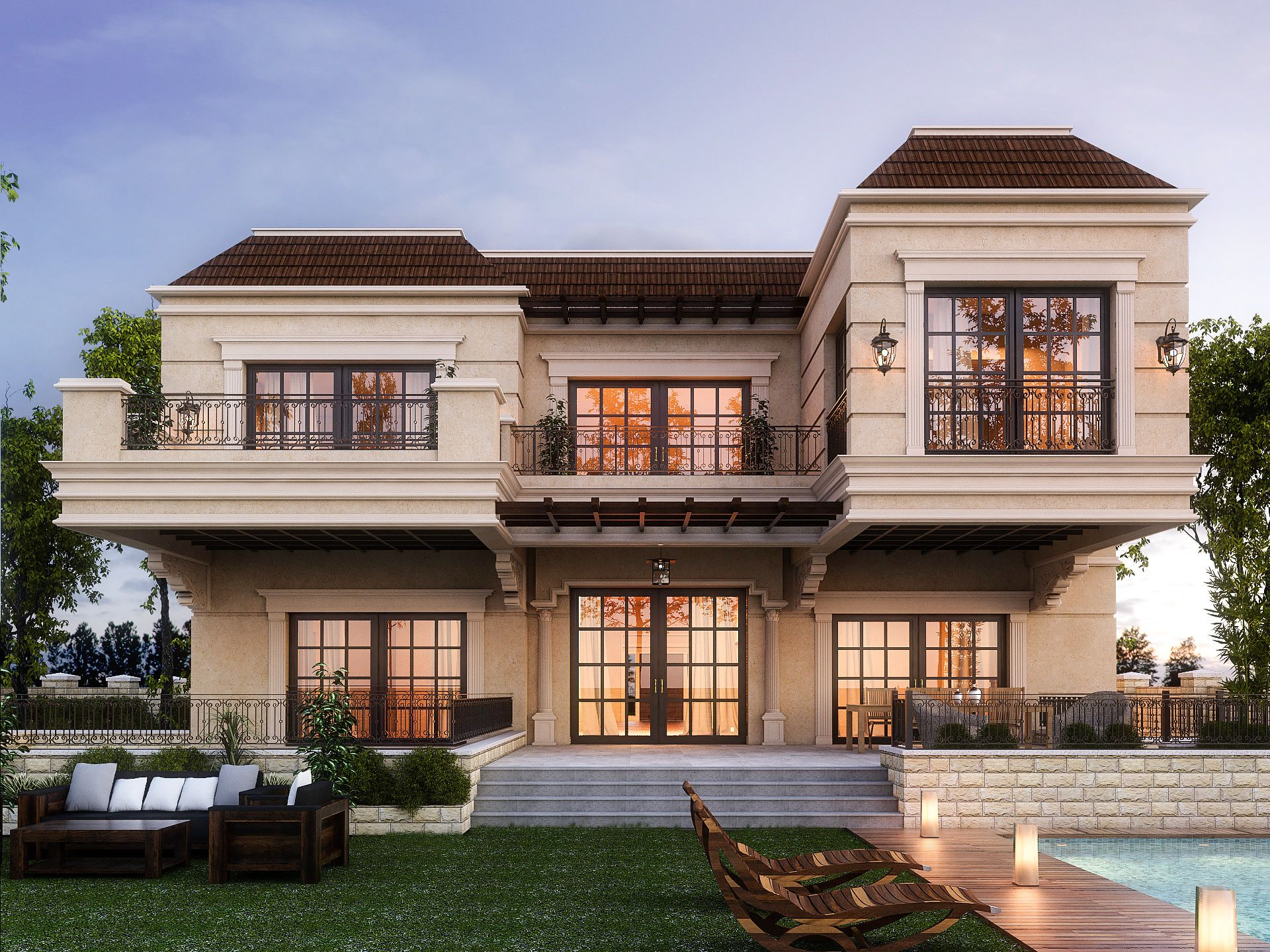 Lake View Villa - Redesign Existing Elevations