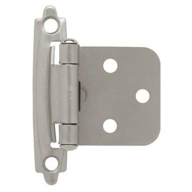 Liberty Hardware H0103bl Sn U Self Closing Overlay Hinge 1 Satin Nickel Card 2 Hinges For Cabinets Overlay Hinges Overlay Cabinet Hinges