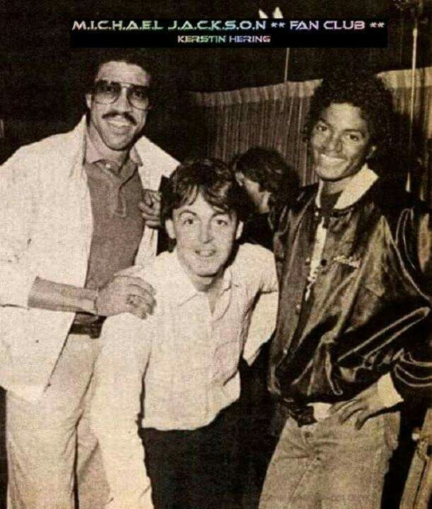 bcfb03ea Rare with Lionel Richie and Paul McCartney :) | MJ | Paul Mccartney ...