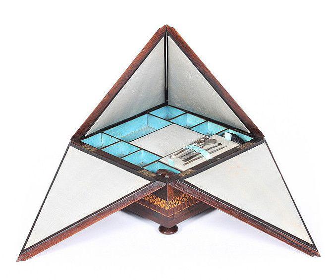 Pyramidal Tunbridge Ware Sewing Box