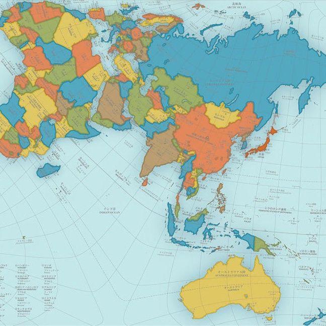 Ingeniously redesigned world map looks unusual but is highly ingeniously redesigned world map looks unusual but is highly accurate gumiabroncs Images