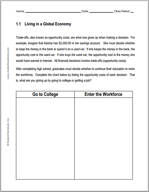 Printables Economics Worksheets For High School 1000 images about educationteaching aids on pinterest homeschool activities and high school