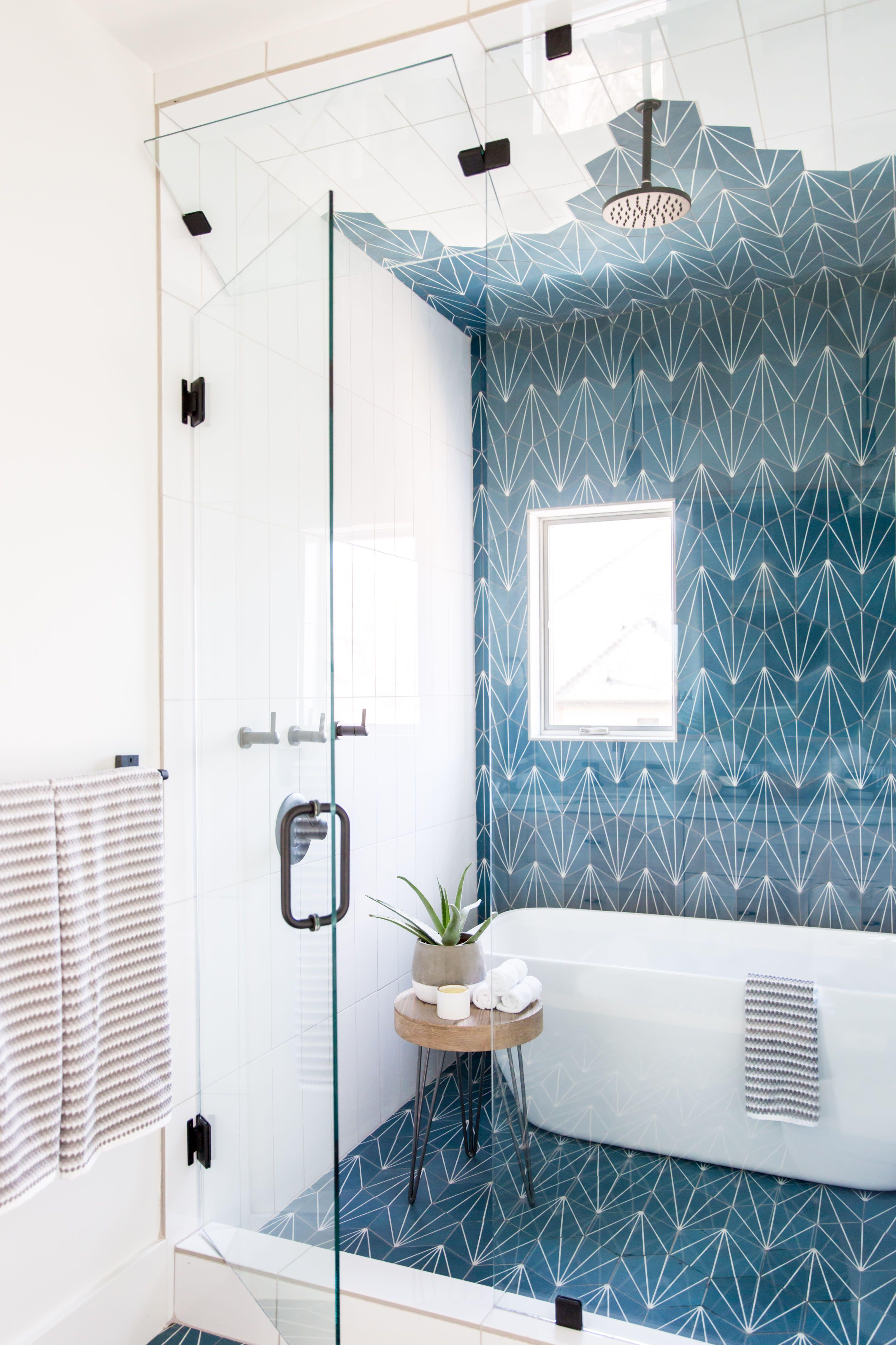 This Vibrant Jack And Jill Kids Bathroom Is Made For Sharing Bathroom Interior Design Bathroom Design Bathroom Interior