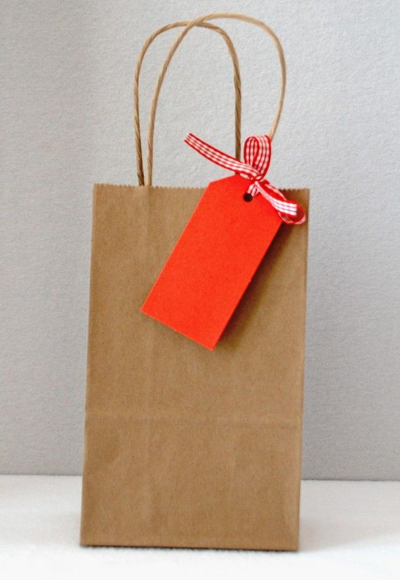 Kraft Brown Gift Bags This Listing Is For 10 Small Kraft Paper Gift