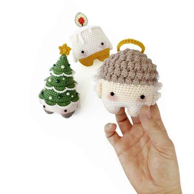 Häkel Weihnachten Süße Anleitung Für Engel Baum Und Kerze Cute