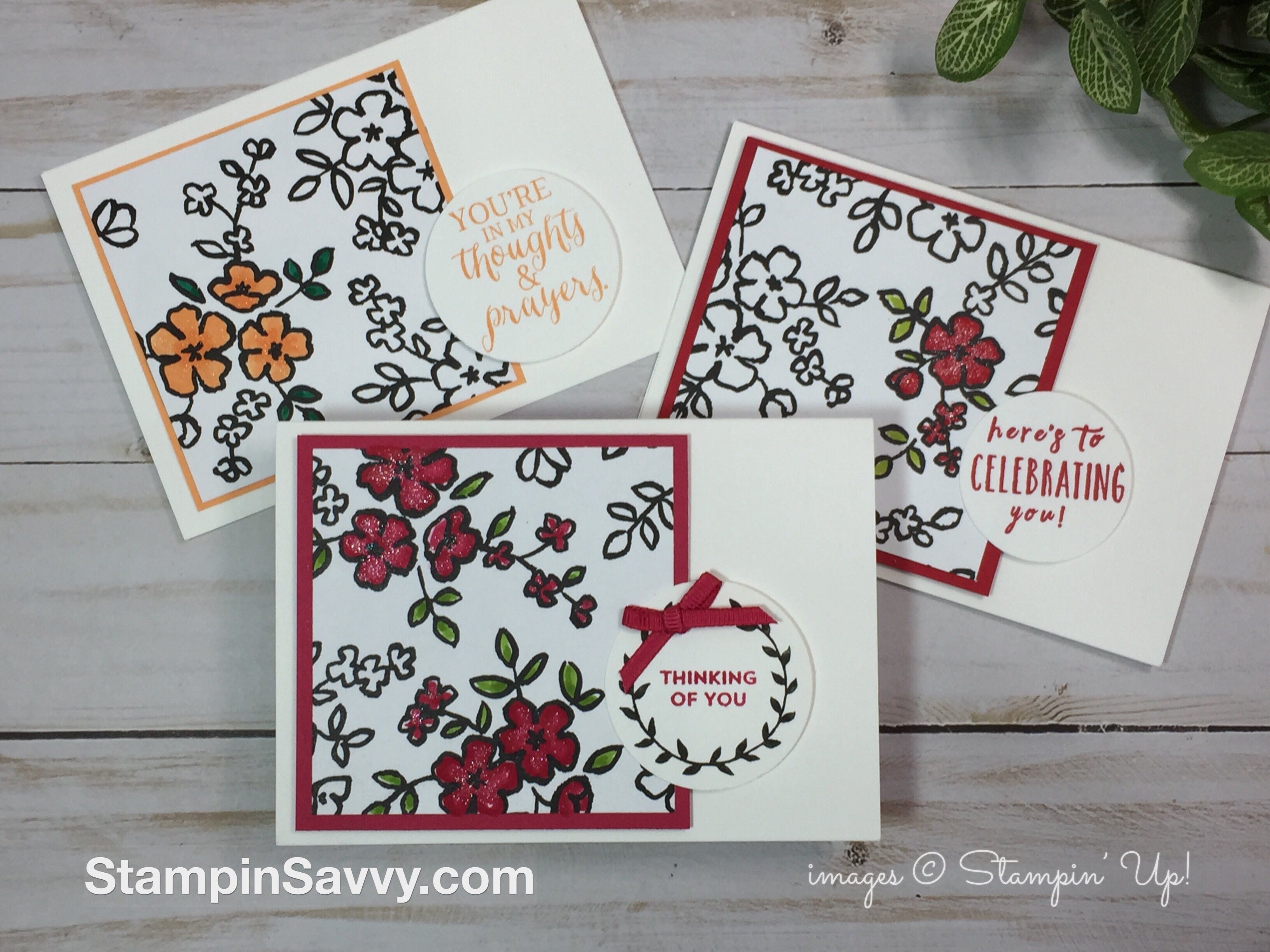Simple Card Sketches With Petal Passion Designer Series Paper Handmade Thank You Cards Card Sketches Cards