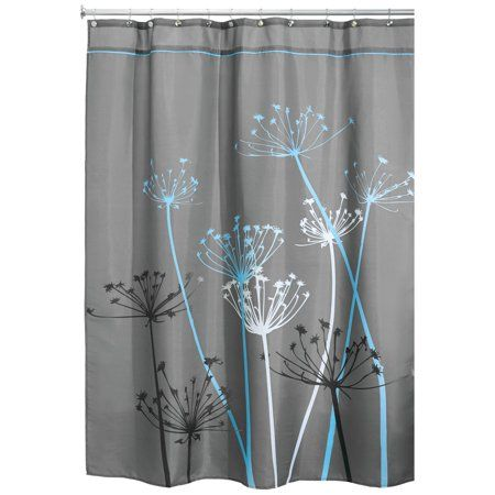 Interdesign Thistle Fabric Shower Curtain Stall 54 Inch X 78 Inch