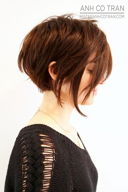 Short Hairstyles For Thick Hair Stunning Short Asymmetrical Hair #hairstyle #haircut  Beauty  Hair