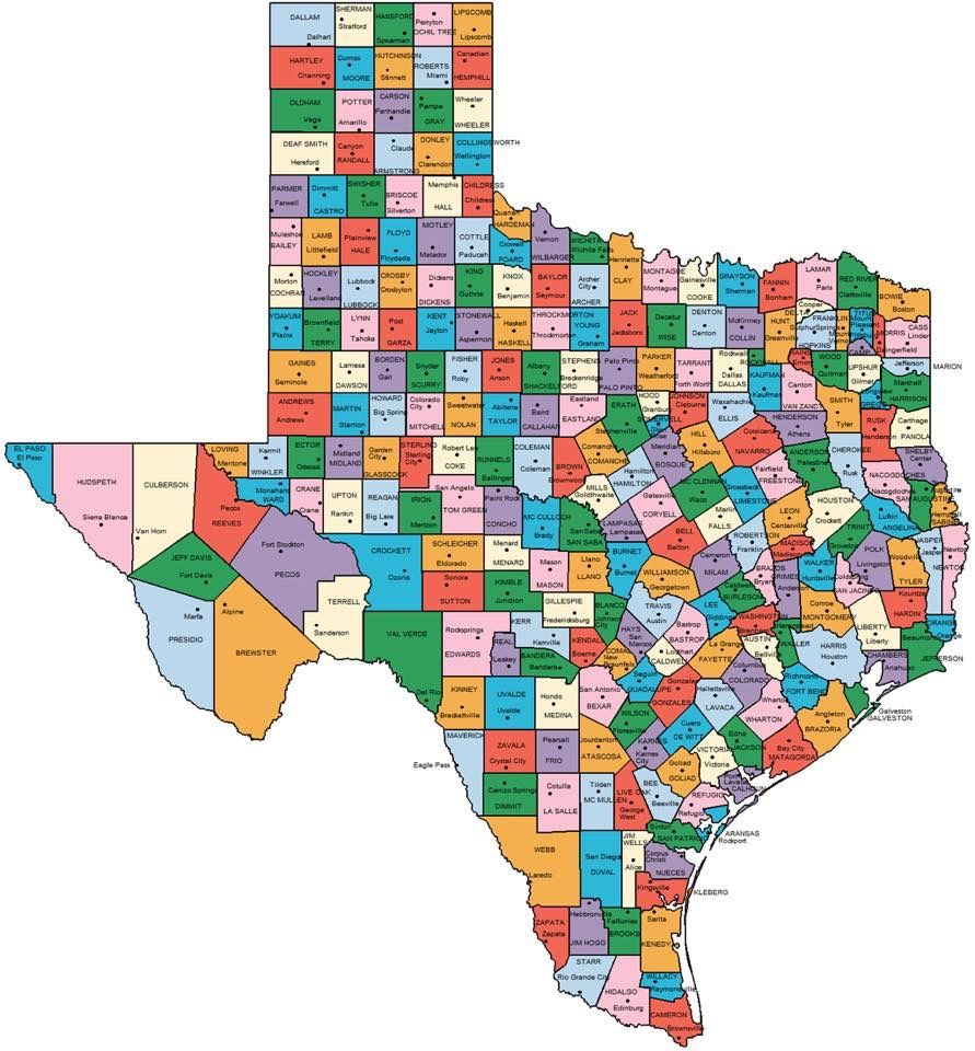 Texas Map Relocating Pinterest Texas Texas Travel And - County map of texas