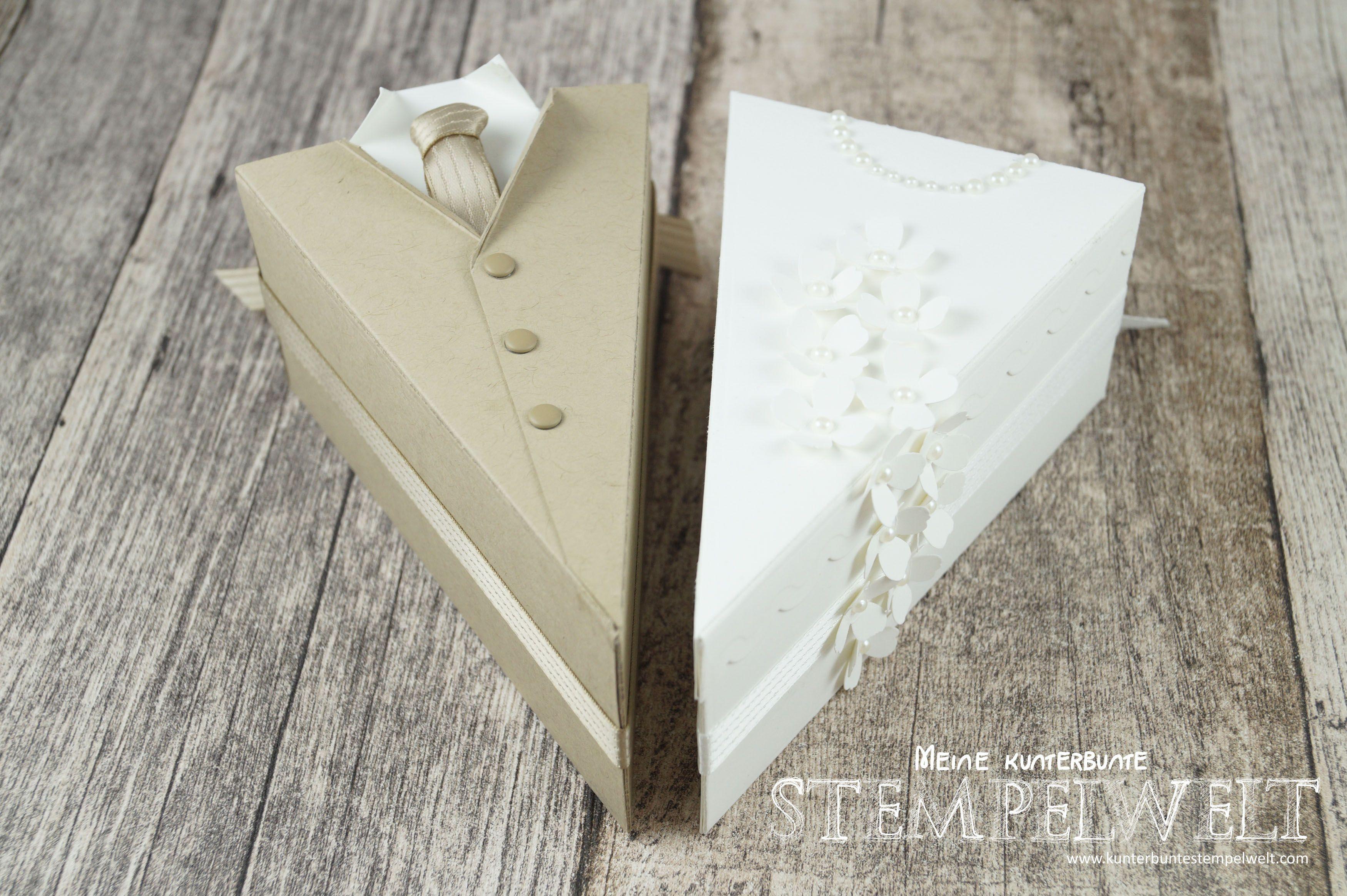 Stampin´ UP!_Thinlits Tortenstück_Geldgeschenk zur Hochzeit_Braut ...