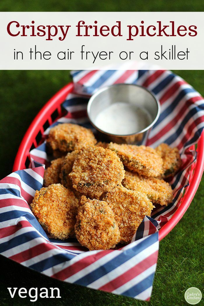 Crispy fried pickles Recipe Air fryer recipes, Fried