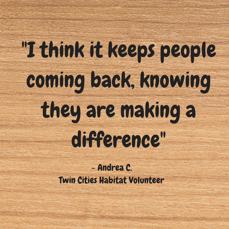 Habitat for Humanity volunteer makeadifference