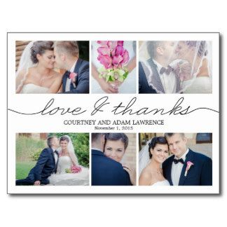 Shop Lovely Writing Wedding Thank You Card