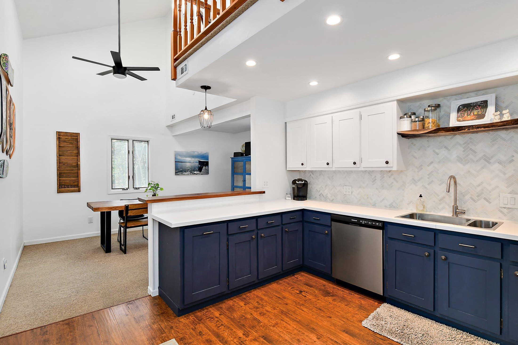 A Cozy 1980s A-Frame Gets a Clean, Modern Update   Kitchen ...