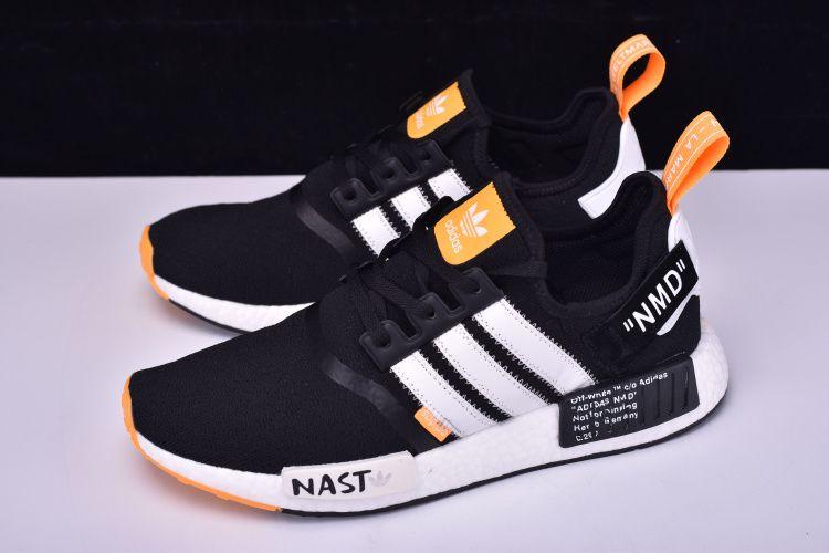 Off blanco x adidas Originals NMD R1 negro / blanco naranja ba8860